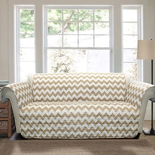 Lush Decor Chevron Loveseat Furniture Protector Slipcover