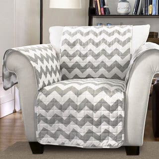Lush Decor Chevron Armchair Furniture Protector Slipcover