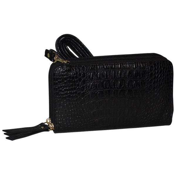 Exotic Croco Double Zip Organizer