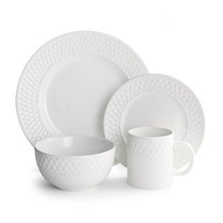 Basket Weave Dinnerware 16-piece Set