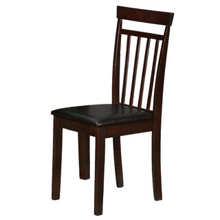 Espresso Wood and PU Dining Chair (Set of 2)