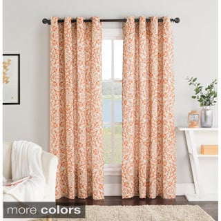 Victoria Classics York 84-Inch Grommet Top Curtain Panel Pair