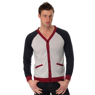 Oxymoron Men's Raglan Cut Cardigan