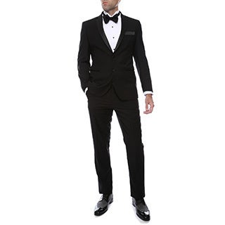 The Bronson by Ferrecci 2 piece 2 button Black Slim Fit Tuxedo