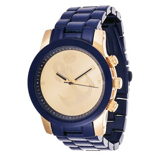The Macbeth Collection Men's Watch Gold Anchor Dial with Blue Case and Strap