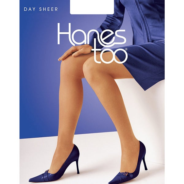Hanes Too Day Sheer Non Control Top Reinforced Toe