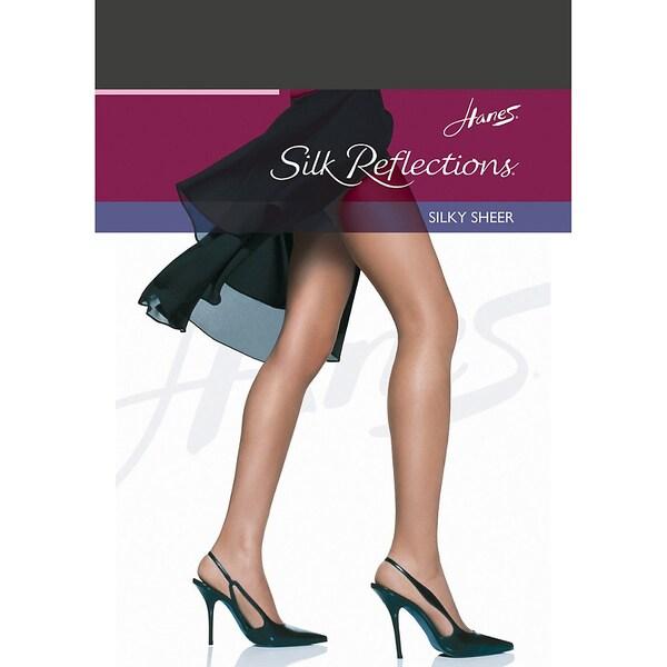 Hanes Silk Reflections Non-Control Top Reinforced Toe Pantyhose 15117693