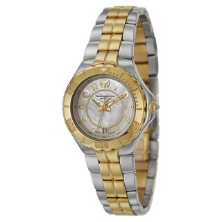 TechnoMarine Women's 'Sea Pearl' Mother of Pearl Dial Two-tone Stainless Steel Watch