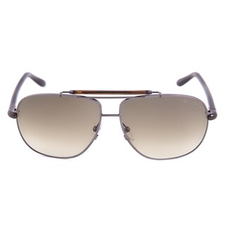 Tom Ford TF243 08P Adrian Aviator Silver Unisex Sunglasses