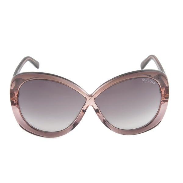 7a6879db9715 Tom Ford TF 226 74B Margot Shimmer Grey Full Rim Oversized Sunglasses