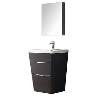 Fresca Milano Chestnut Modern Bathroom Vanity with Medicine Cabinet