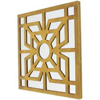 Square Yellow Mirror Wall Decor