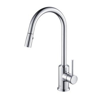 Rivuss Brunei Polished Chrome Single Lever Solid Brass Pull-down Kitchen Faucet