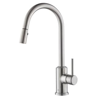 Rivuss Brunei Brushed Nickel Single Lever Solid Brass Pull-down Kitchen Faucet