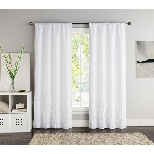 VCNY Amber 84-inch Black Out Curtain Panel Pair (As Is Item)