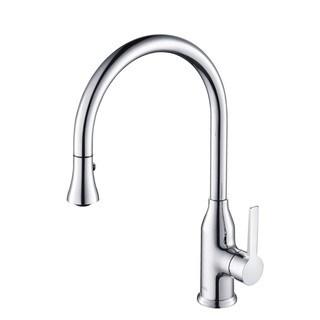 Rivuss Aureus Chrome Single Lever Solid Brass Pull-down Kitchen Faucet