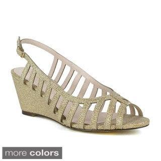 Celeste Women's Wanda-03 Strappy Dressy Wedge Sandal