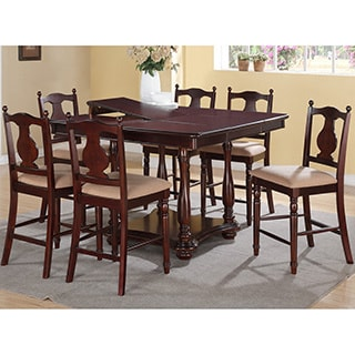Saue 7 pieces Dining Set in Deep Rich Wood Finish