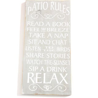 'Patio Rules' Wall Decor