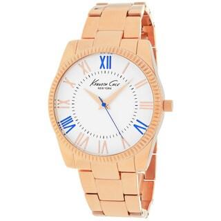 Kenneth Cole Women's 10019415 Classic Round Rosetone Bracelet Watch