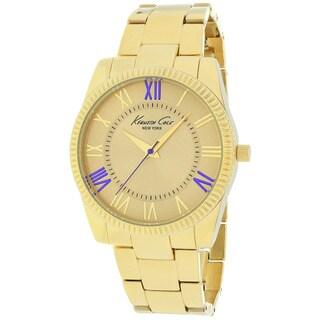 Kenneth Cole Women's 10019412 Classic Round Goldtone Bracelet Watch