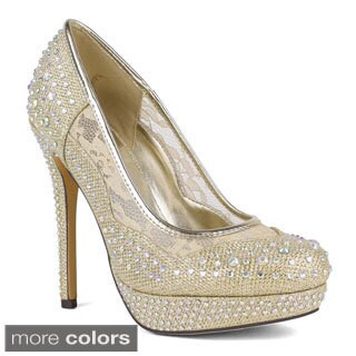 Celeste Women's Dido-05 Glitter Dressy Platform Pumps