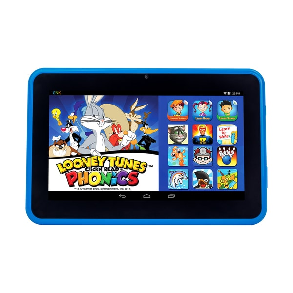 ClickN Kids Tablet 2 Blue 7-inch 8GB Wi-Fi Kids Tablet with Pre-loaded Learning Apps and Games