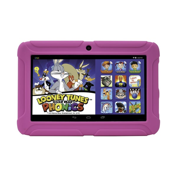 ClickN Kids Tablet 2 Pink 7-inch 8GB Wi-Fi Kids Tablet with Pre-loaded Learning Apps and Games