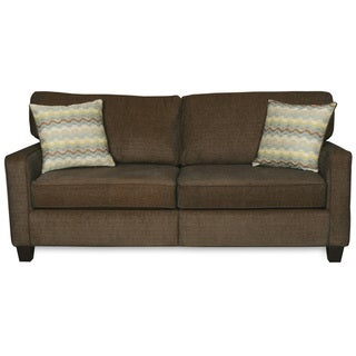 Sofab Macy Quartz Chenille Sofa With Two Toss Pillows