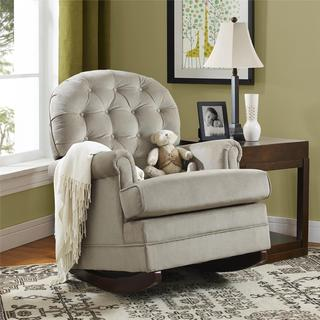 Baby Relax Brielle Button Tufted Taupe Rocker