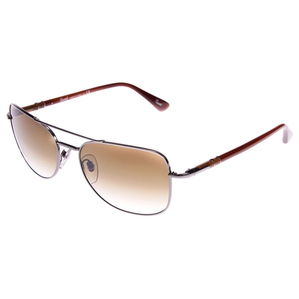 Persol Square Cornered Aviator Brown Sunglasses