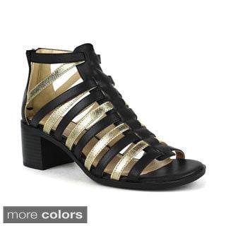 Mark and Maddux Women's Cecilia-02 Metallic Strappy Sandals