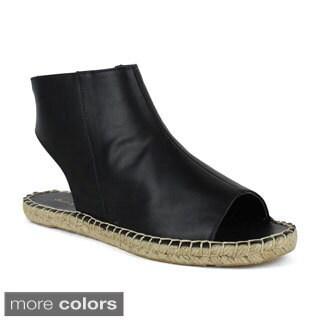 Mark and Maddux Women's Woven Flat Open Toe Slingback Sandals
