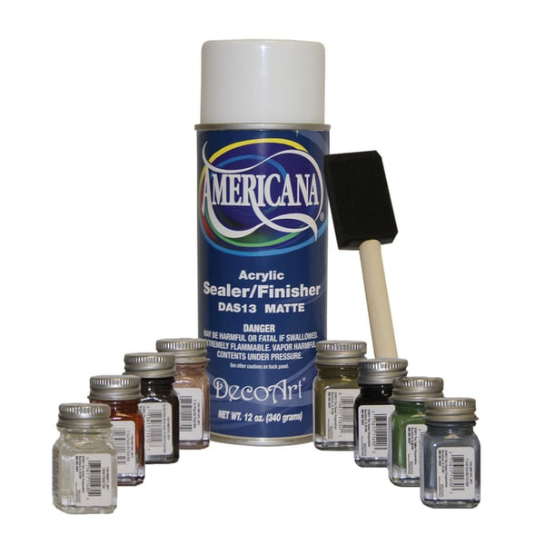 Testor's Americana Sealer/ Brush Touch-up Paint Kit