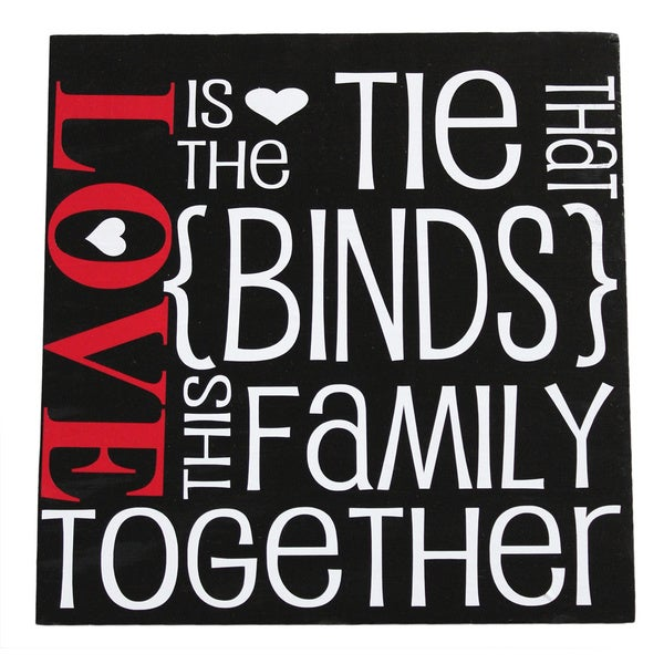 'Love is the Tie That Binds' Wall Decor