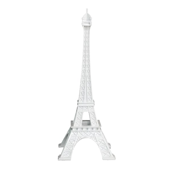 White Resin Eiffel Tower Decoration