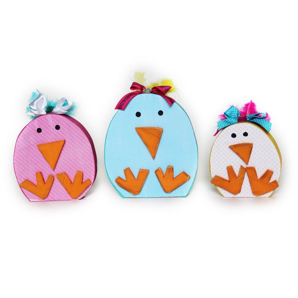 Spring Chicks Accent Piece (Set of 3)