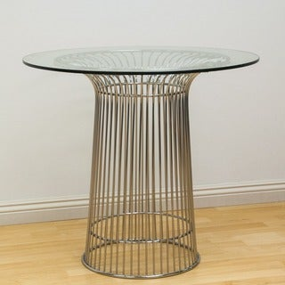 Mod Made Glass and Chromed Steel Wire Nat Table