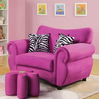 Lucy Pink Youth Chair (Ottoman sold separately)