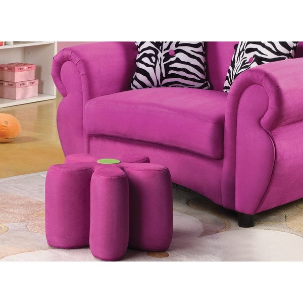 Lucy Pink Youth Ottoman