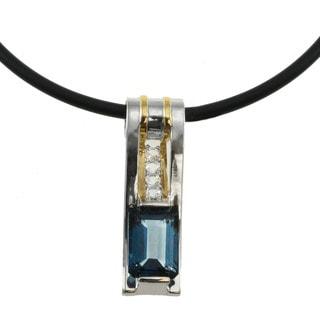 Michael Valitutti London Blue Topaz and White Topaz Necklace
