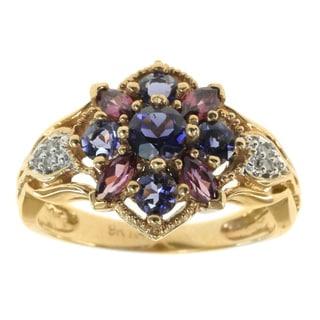 Michael Valitutti 14k Yellow Gold Multi Stone Ring
