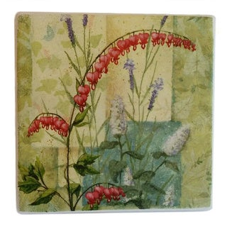 Absorbent Stone Coaster Set of 4, June Garden