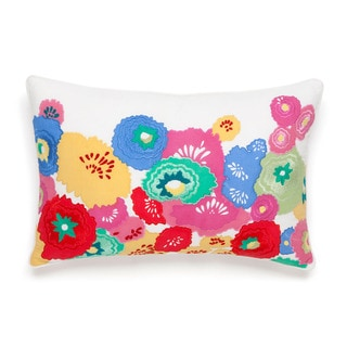 Collier Campbell English Bloom Floral Embroidered Decorative Throw Pillow