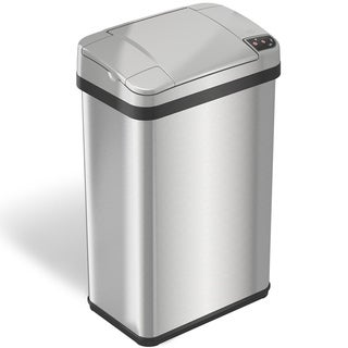 iTouchless 4 Gallon Multifunction Sensor Trash Can Stainless Steel Silver