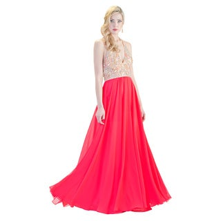Daniella Collection Women's Coral Beaded Dress