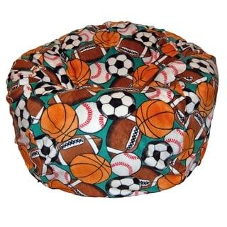 Anti-Pill Sports Fleece Washable Bean Bag Chair