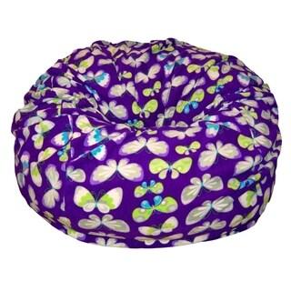 Anti-Pill Butterflies Fleece Washable Bean Bag Chair