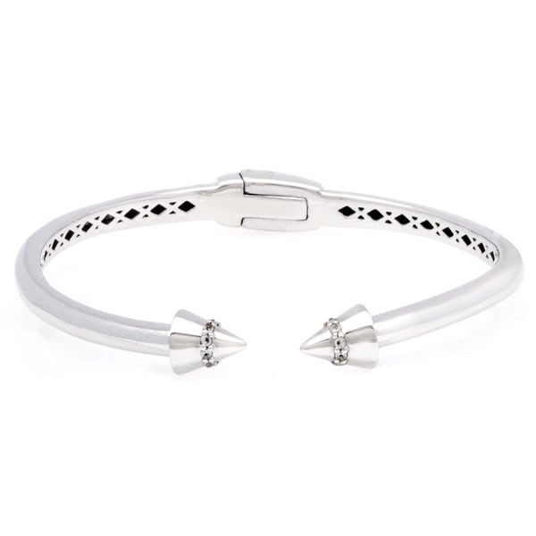 Sterling Silver White Topaz Bangle