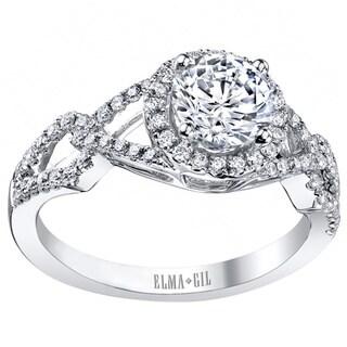 18k White Gold 1/5ct TDW Diamond Semi-mount Engagement Ring (G-H, VS1-VS2) (Size 7)